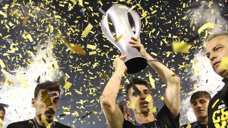 Super League: Έγινε η στέψη της ΑΕΚ στη Ριζούπολη