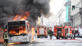 Στις φλόγες λεωφορείο στο κέντρο της Ρώμης