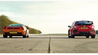 Ποιο είναι πιο γρήγορο; Ένα παλιό super car σαν το Honda NSX ή το super hatch Civic Type R;