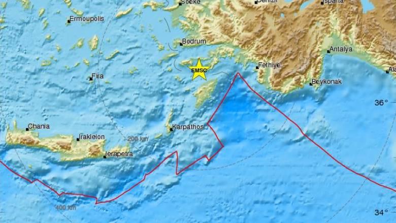 Σεισμός αναστάτωσε τα ξημερώματα τη Ρόδο