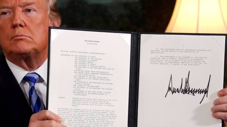 Δριμεία επίθεση Τεχεράνης στον Τραμπ μετά την απόσυρση από την πυρηνική συμφωνία
