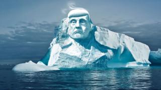 Προτομή του Τραμπ σε παγετώνα απάντηση για την υπερθέρμανση του πλανήτη