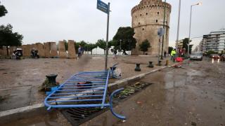 Κακοκαιρία: Σοβαρά προβλήματα από τη θεομηνία στη Θεσσαλονίκη