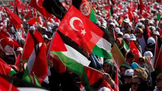 Χιλιάδες άνθρωποι διαδήλωσαν στην Κωνσταντινούπολη υπέρ των Παλαιστινίων