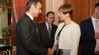 Με την πρόεδρο της Εσθονίας συναντήθηκε ο Κ. Μητσοτάκης