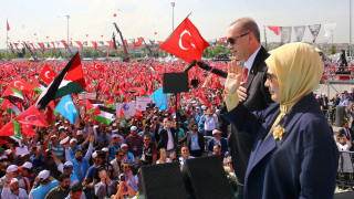Προεκλογική συγκέντρωση Ερντογάν στο Σαράγεβο