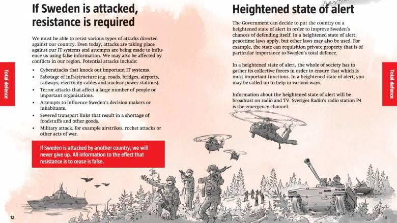 Η Σουηδία ετοιμάζεται για πόλεμο και στέλνει «εγχειρίδιο επιβίωσης» στους πολίτες της