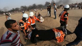 Γάζα: Δεκάδες Παλαιστίνιοι τραυματίστηκαν από ισραηλινά πυρά και δακρυγόνα (pics)