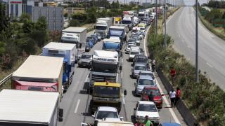 Κυκλοφοριακό χάος στην Αθήνα - Μποτιλιάρισμα στους δρόμους