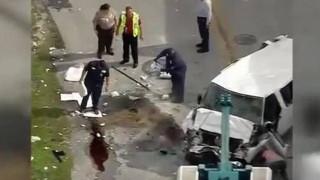 Αυτοκίνητο «βούτηξε» από τον τέταρτο όροφο πάρκινγκ στο Μαϊάμι