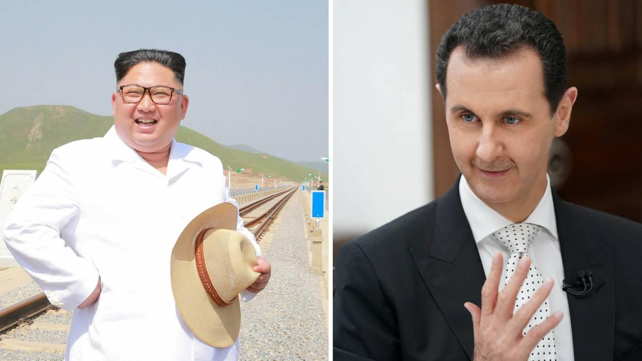 Τετ α τετ Κιμ Γιονγκ Ουν με τον Μπασάρ αλ Άσαντ