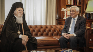 Συνάντηση Παυλόπουλου με Βαρθολομαίο: Υπεράσπιση των Αρχών και των αξιών της Ορθοδοξίας