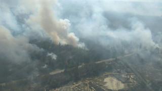Μεγάλη πυρκαγιά ξέσπασε κοντά στο Τσερνόμπιλ
