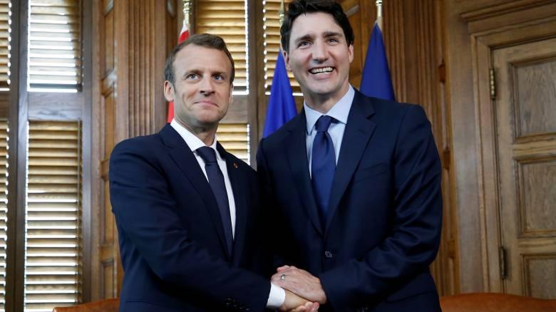 «Μέτωπο» Μακρόν και Τριντό κατά των ΗΠΑ στη G7