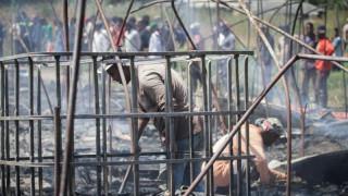 Έρευνες για τα αίτια της μεγάλης πυρκαγιάς σε καταυλισμό εργατών στη Ν. Μανωλάδα