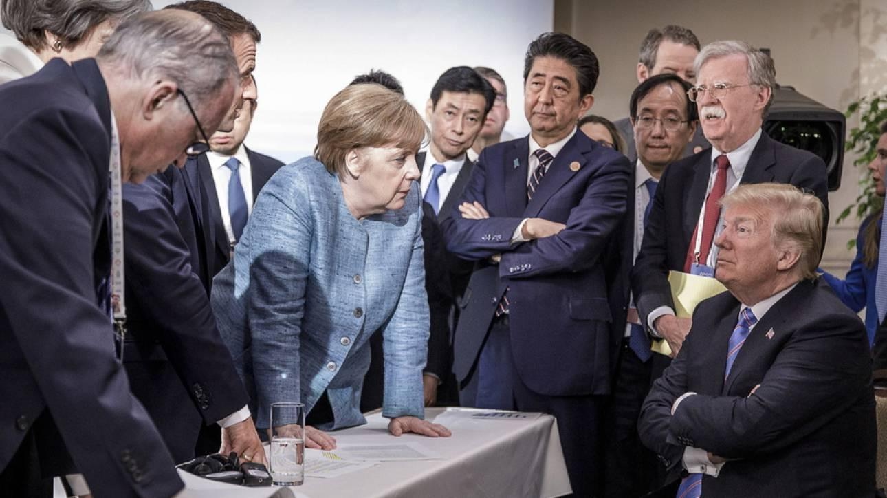 Η φωτογραφία από τη G7 που έγινε viral: Έξι εναντίον ενός