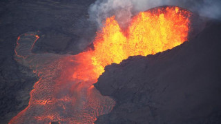 Η καταστροφή του ηφαιστείου Κιλαουέα από ψηλά