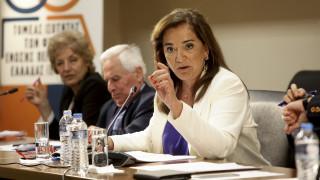 Μπακογιάννη: Η κυβέρνηση δεν έχει τη δημοκρατική νομιμοποίηση να υποθηκεύσει τη δημόσια περιουσία