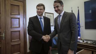 Παρέμβαση των πιστωτών στο χρέος ζήτησε ο Μητσοτάκης από τον Ντομπρόφσκις