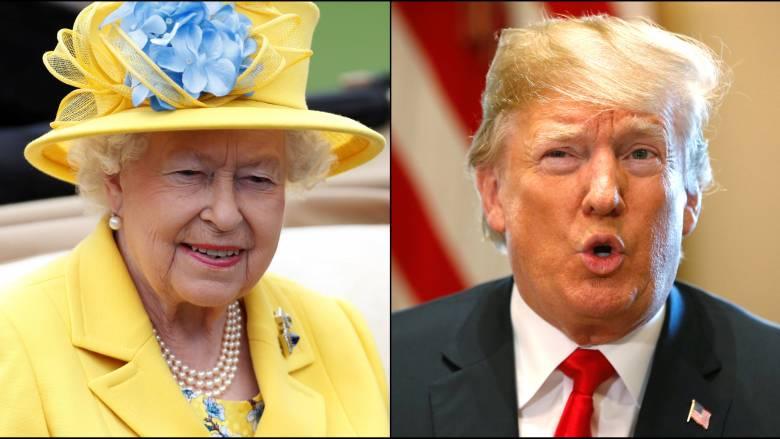 Ο Τραμπ θα συναντηθεί με τη βασίλισσα Ελισάβετ