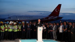 Τουρκία: Προεκλογική «φιέστα» Ερντογάν στο τρίτο αεροδρόμιο της Κωνσταντινούπολης