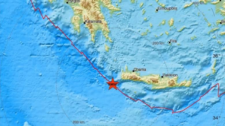 Σεισμός 3,9 Ρίχτερ νοτιοδυτικά της Κρήτης