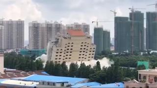 Βίντεο: Πολυτελές ξενοδοχείο στην Κίνα γίνεται «σκόνη» σε μόλις 10 δευτερόλεπτα