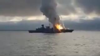 Συγκλονιστικό βίντεο: Έκρηξη σε γερμανική φρεγάτα όταν πύραυλος κόλλησε στον εκτοξευτήρα