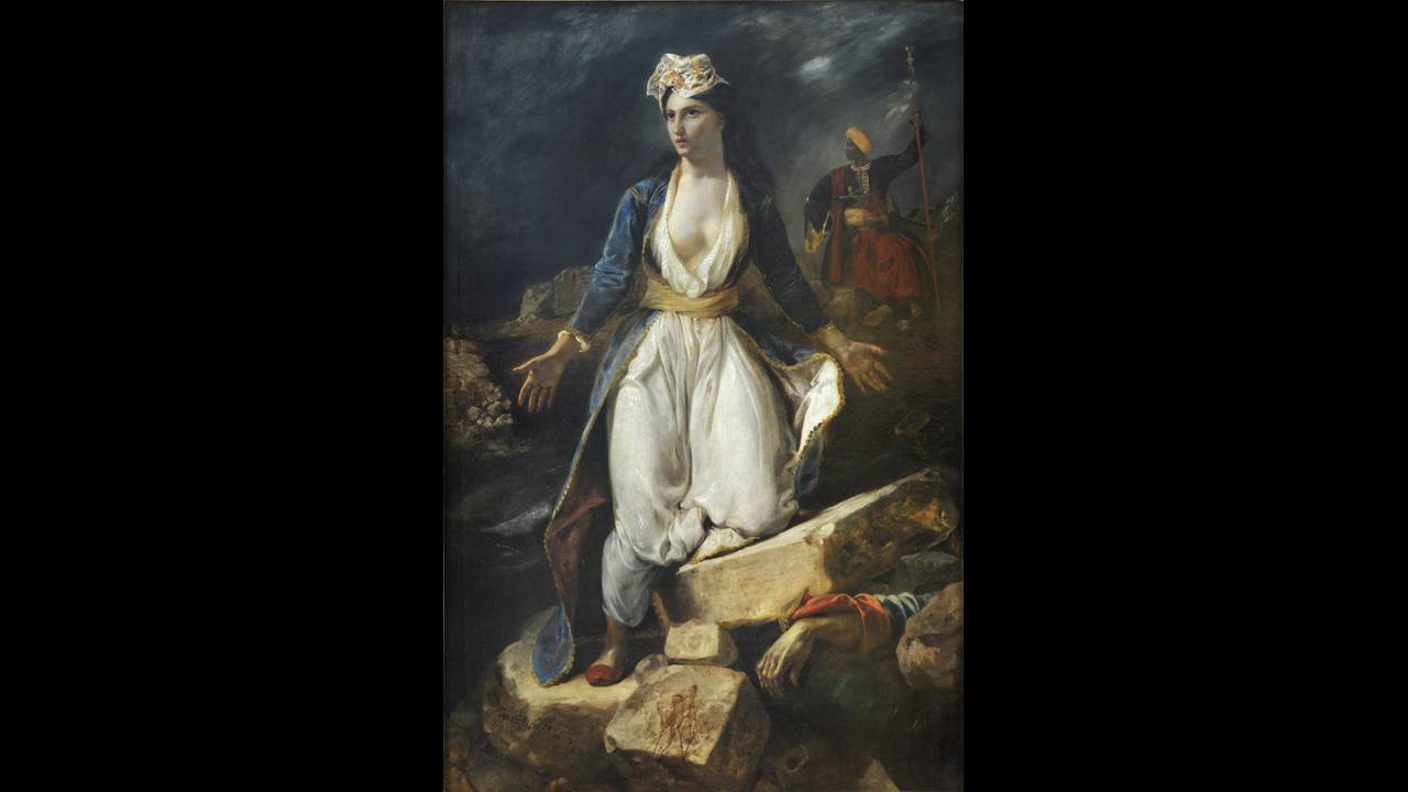 """""""Η Ελλάδα στα ερείπια του Μεσολογγίου"""" (1826). Musée des Beaux-Arts, Bordeaux © Musée des Beaux-Arts, ville de Bordeaux. Cliché L . Gauthier, F . Deval."""