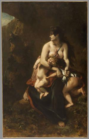 """""""Η Μήδεια πριν σκοτώσει τα παιδιά της"""" (1838) Palais des Beaux- Arts, Lille © RMN-Grand Palais / Stéphane Maréchalle."""