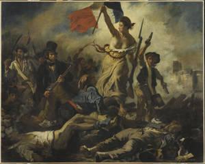 """""""Ελευθερία που οδηγεί τον λαό"""" (1830). Musée du Louvre, Paris © RMN-Grand Palais (musée du Louvre) / Michel Urtado."""