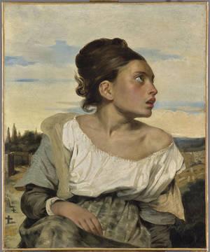 """""""Ορφανό κορίτσι στο κοιμητήριο"""" (1824). Musée du Louvre, Paris. © RMN-Grand Palais (musée du Louvre) / Mathieu Rabeau."""