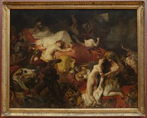"""""""Ο θάνατος του Σαρδανάπαλου"""" (1827). Musée du Louvre, Paris © Musée du Louvre, dist. RMN – Grand Palais / Angèle Dequier."""