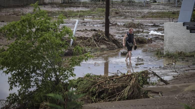 Νέα Βρασνά Θεσσαλονίκης: Εικόνες καταστροφής από τις πλημμύρες