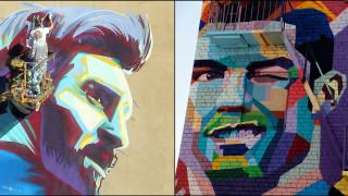 Μέσι & Ρονάλντο: Αντικριστά οι τοιχογραφίες των κορυφαίων