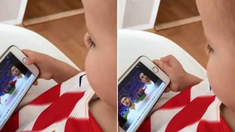 Ο μικρούλης του Λόβρεν «τρελαίνει» το διαδίκτυο: Ξέρει όλη την 11αδα της Κροατίας!