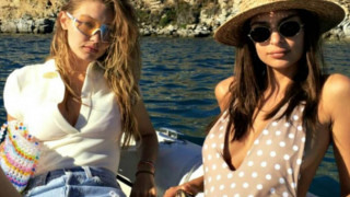 Μύκονος: Κέιτ Μος, Τζίτζι Χαντίντ & Έμιλι Ρατακόφσκι στο νησί των ανέμων (pics)