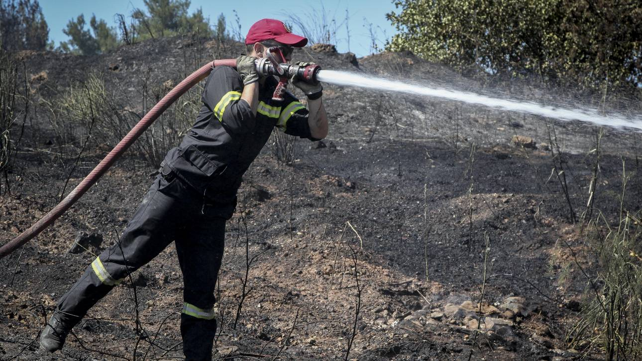 Φωτιά στο Μεσολόγγι: Δεν απειλεί κατοικημένες περιοχές