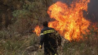 Δύο φωτιές μαίνονται στην Κρήτη