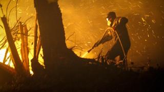 Μάχη με τις φλόγες στα δύο πύρινα μέτωπα στην Κρήτη