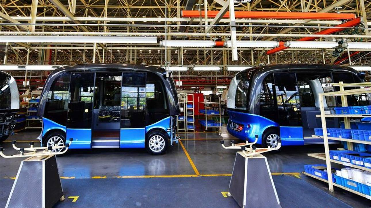 Μαζική παραγωγή λεωφορείων χωρίς οδηγό στην Κίνα