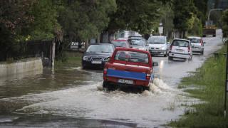 Βόλος: Καταιγίδα προκάλεσε ζημιές και διακοπή της κυκλοφορίας στους δρόμους