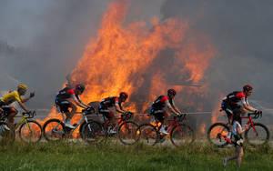 Ποδηλασία - Tour de France - Στο 181ο χλμ. από Μπρεστ στο Μούρ ντε Μπριντέν Guerleden - 12 Ιουλίου 2018.