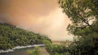 Μάχη με τις φλόγες στη Σκόπελο