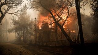 Φωτιά Κινέτα: Στις φλόγες σπίτια, εκκενώθηκαν οικισμοί