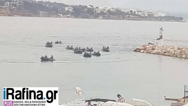 Eπιχείρηση των ΟΥΚ για τον εντοπισμό αγνοουμένων στη θάλασσα της Ραφήνας