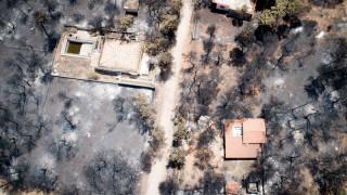 Μάτι Αττικής: Συγκλονιστικές αεροφωτογραφίες