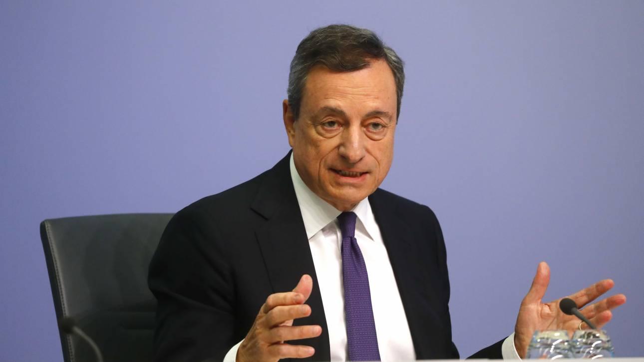 Ντράγκι: Τα ελληνικά ομόλογα δεν μπορούν να μετάσχουν στο QE