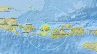 Ινδονησία: Ισχυρή σεισμική δόνηση 6,4 βαθμών και μετασεισμός 5,4 στη νήσο Λομπόκ