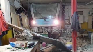 Εκτροχιασμός τρένου στη Λαμία